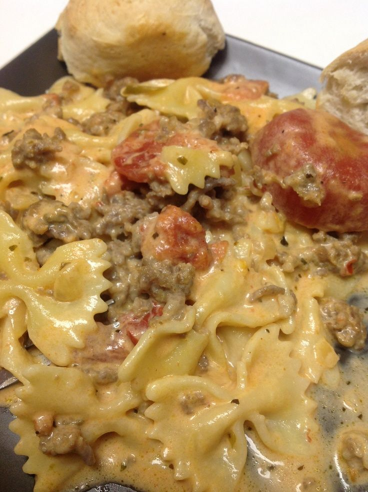 Italian Sausage with Bowtie Pasta.....I make this, and it is so good. I use sweet Italian sausage