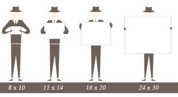 how to illustrate paper sizes