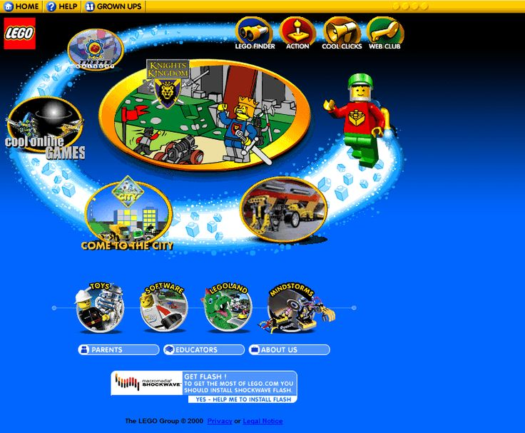 Lego website 2000