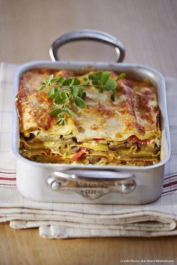 Recette de lasagnes aux légumes du soleil