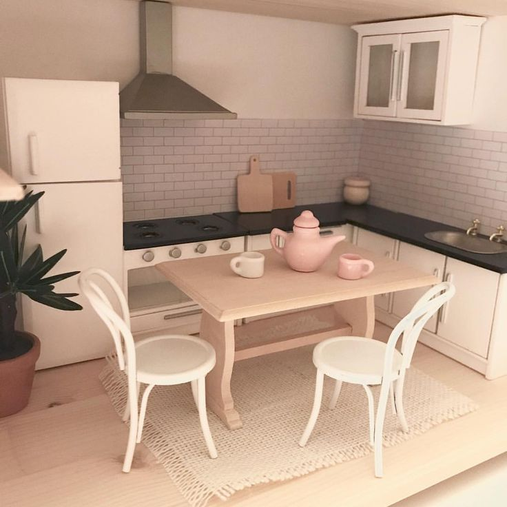 Modern Dolls house kitchen furniture 15 best