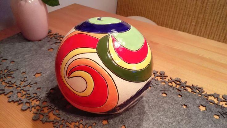 Gartenkugeln & -stelen - Bunte Keramik- Kugel - ein Designerstück von SelfmadeKeramik bei DaWanda