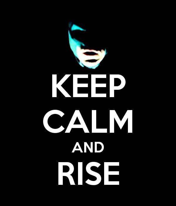 keep calm and rise (batman)