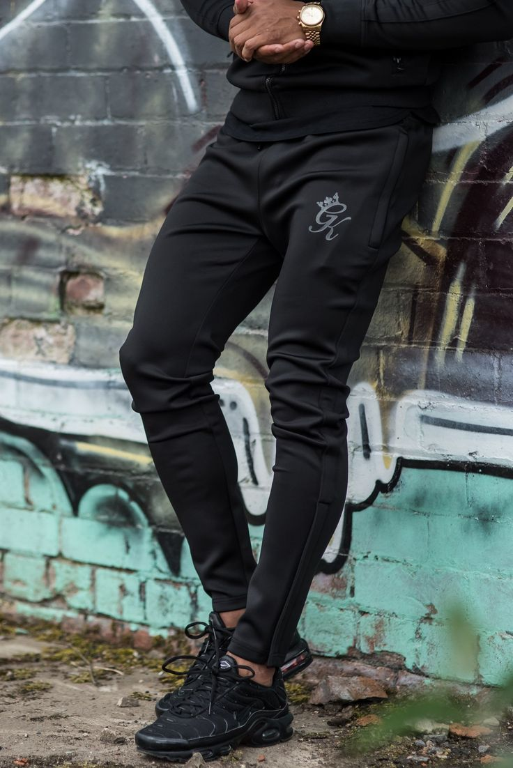 GK Blackout Tapered Poly Tracksuit Bottoms