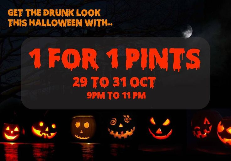Not wearing a costume during Halloween? Fret not! Get the drunk look with 1 for 1 pints from 29 to 31 Oct! Fill your pockets with some treats for the next day too! Come down between 9 pm to 11 pm!  #sgdrinks #serangoon #serangoongardens #igers #igsg #sg #asahi #oneforone #brewisgood