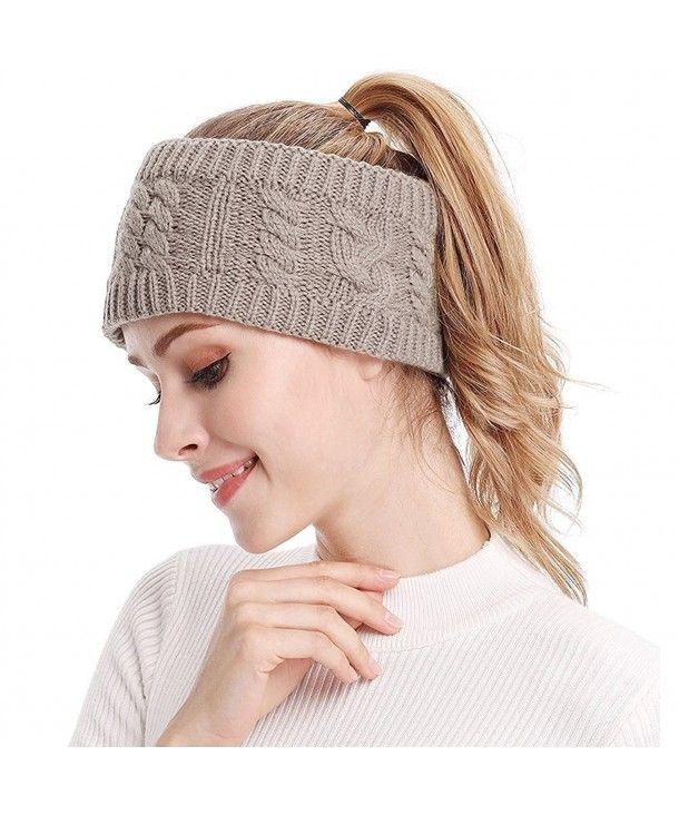 Women Winter Knit Headband Crochet Head Wrap Knitted Hairband Ear Warmer  Hat for Girls Khaki CJ189ZUHQYZ | Winter knit headband, Knitted headband,  Crochet headband