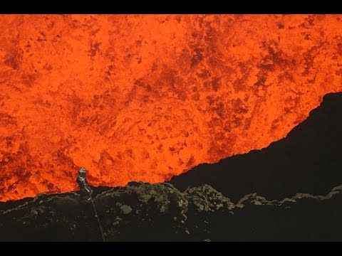 Man Dives into an Exploding Volcano - YouTube