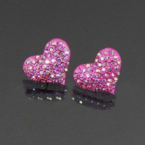 Heart Rhinestone Stud Earrings Ep7012-e3099 Arif's Collection. $19.85. Earrings