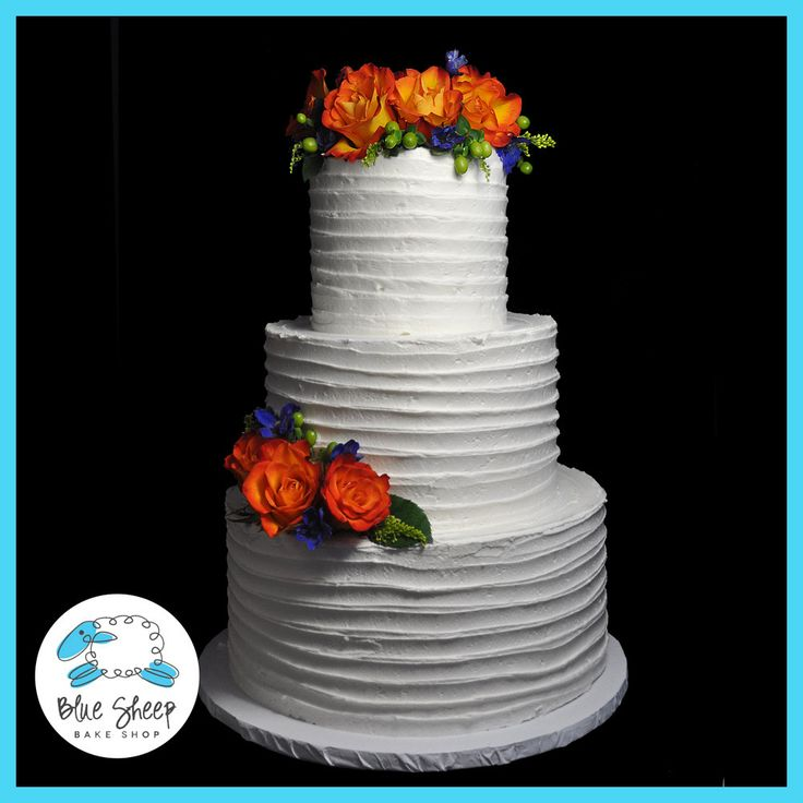 Rustic Buttercream Wedding Cake – Blue Sheep Bake Shop