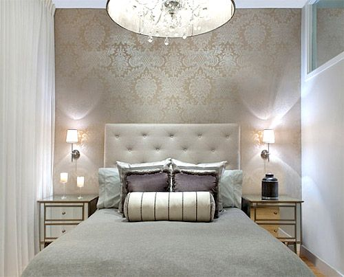 Best Lorenzo Damask Wallpaper Gabrielle Embroidery Bolster 400 x 300