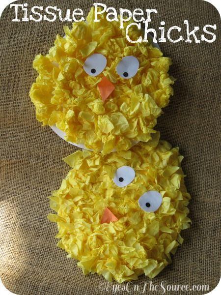 Tissue Paper Chicks 1