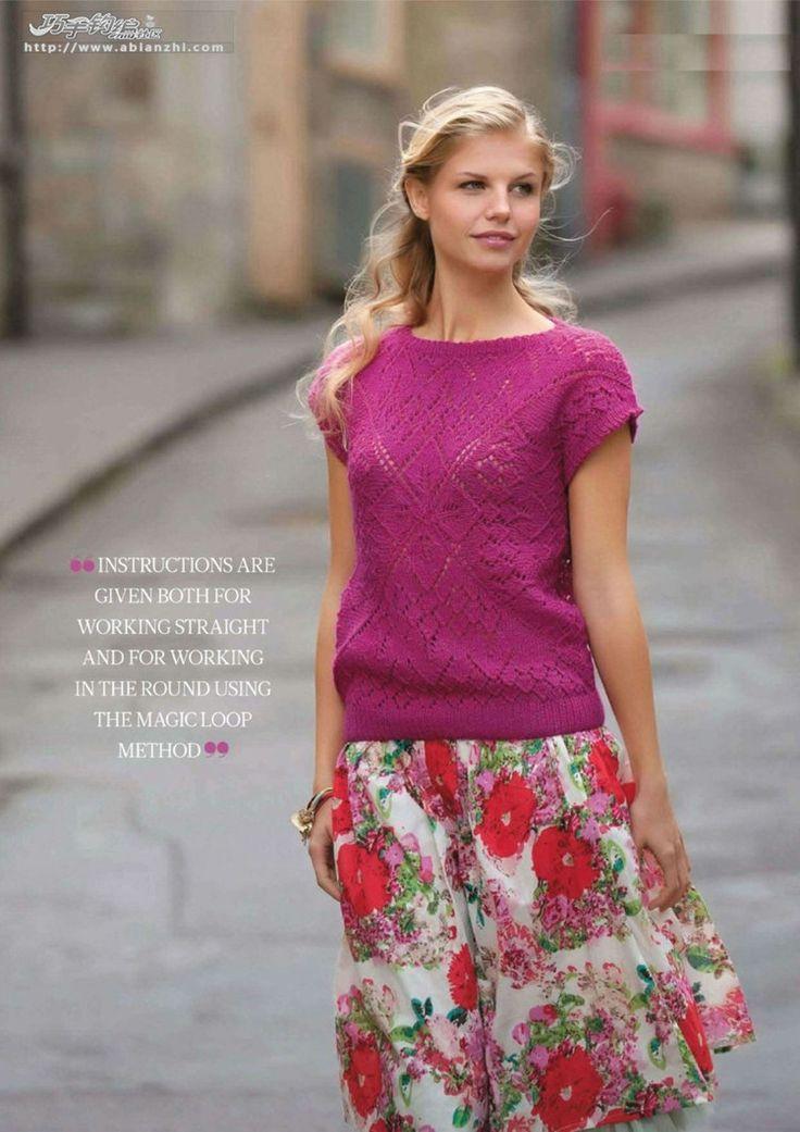 仿The knitter封面的一款短袖 - Crystal - Crystal的博客