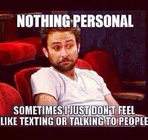 Nothing personal..