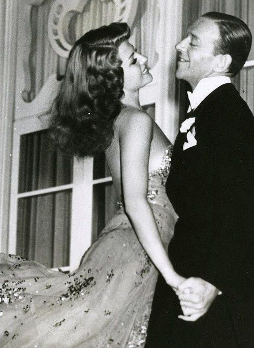 Rita Hayworth and Fred Astaire ~ Hayworth (1918-1987) was a dancer and actress in 61 movies over 37 years; is in the American Film Institute's 100 Greatest Stars of All Time. She was born to Catholic parents - dad from Spain, mom, Irish-British. She died at 68 from Alzheimer's Disease.
