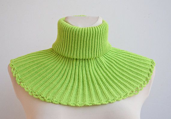 knit cowl limone necwarmer knit scarf green cowl unisex, #knitcowl, #limonenecwarmer
