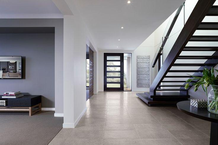 Staircase, front door.