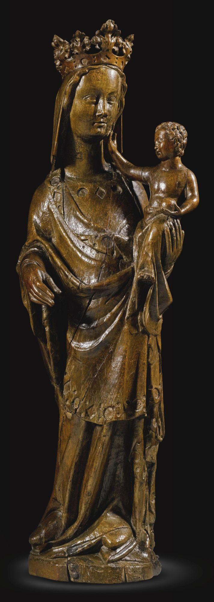 Panna Marie a Ježíšek.Druhá polovina 14.století. ...Severní Francie