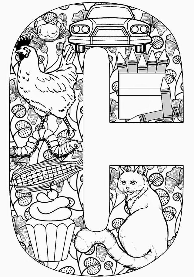 Gifs De Abecedarios Y Letras Abecedario De Dibujos En Ingles Dibujos Para Colorear Adultos Libro De Colores Imagenes Para Colorear Para Adultos