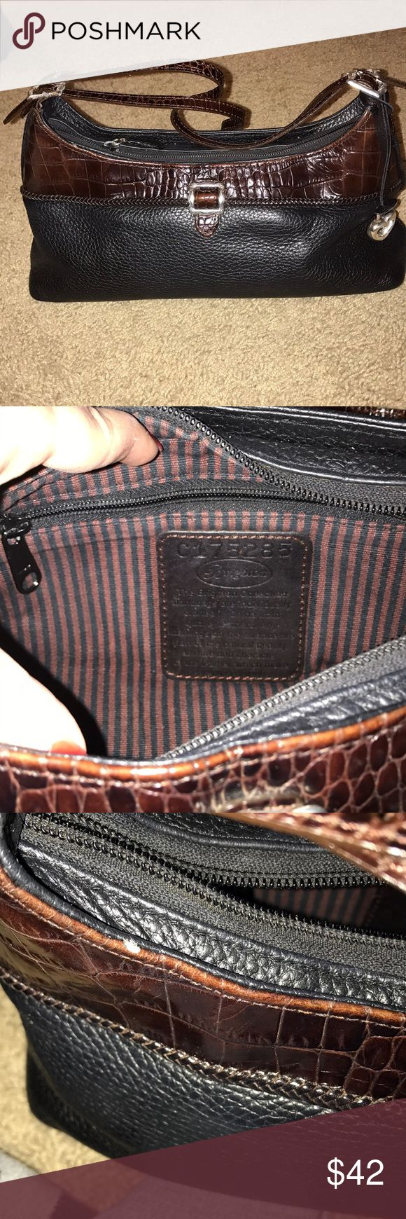 Brighton Purse Small shoulder Brighton purse. Barely used. 2 pockets. Does have small chip but hard to see. Brighton Bags Shoulder Bags