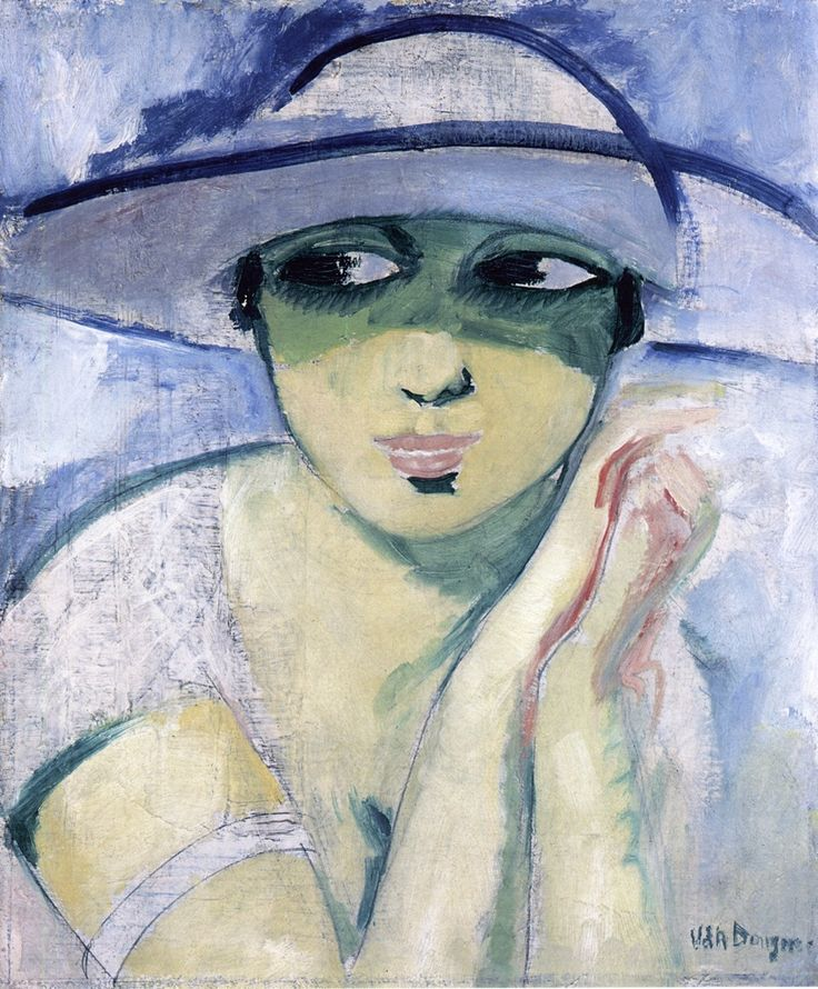 Woman's Head / circa 1920, Kees van Dongen