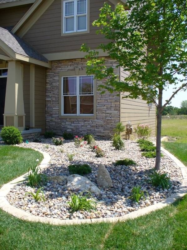 Edge Garden Landscape Rocks : Best ideas about river rock landscaping on
