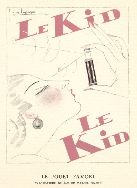 Le Kid advertissement. Illustration by George Lepage La Gazette du Bon Ton 1924