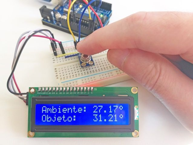 Como Usar O Sensor De Temperatura Mlx90614 Arduino E Cia Arduino Temperatura Sensor