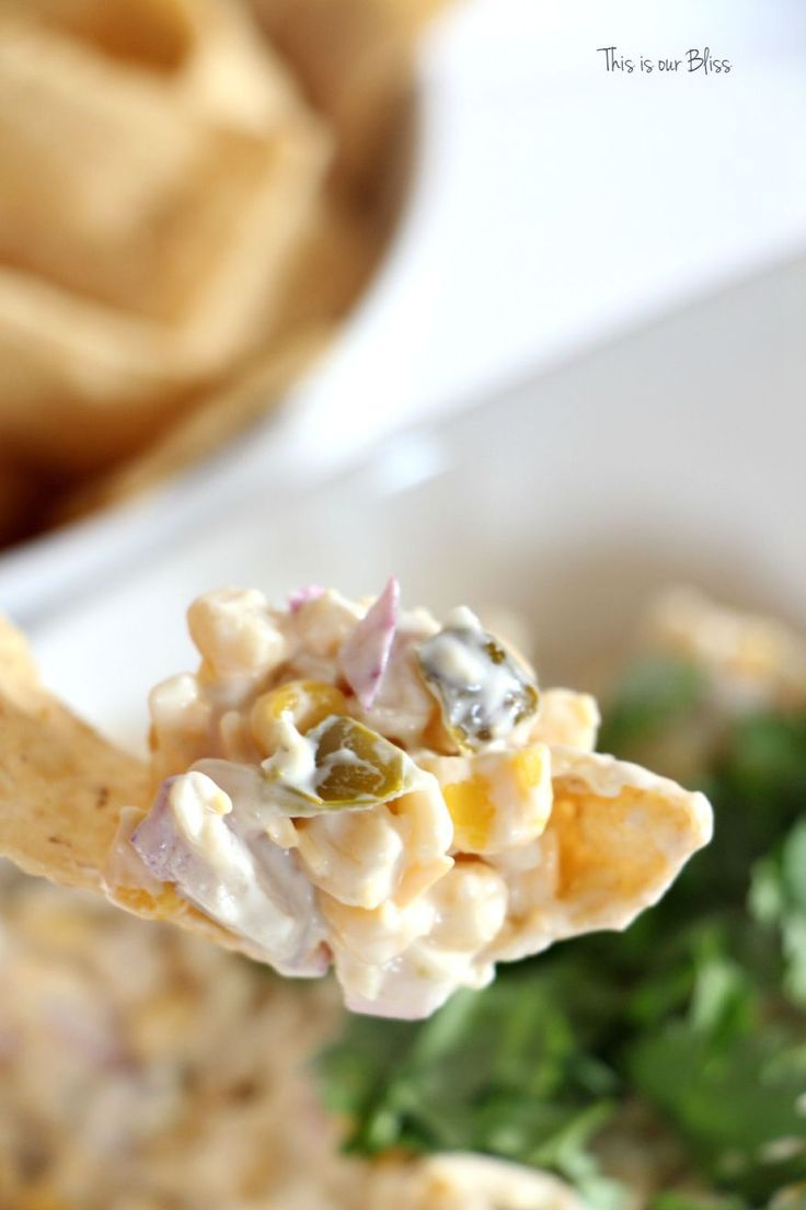 Cold corn fiesta dip - summer corn dip recipe - this is our bliss