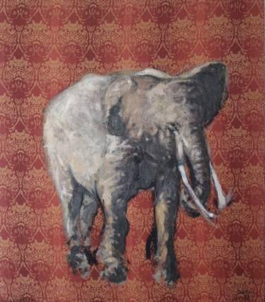 "Saatchi Art Artist simone Butturini; Painting, ""The elephant"" #art"
