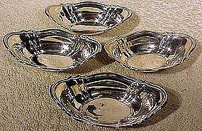 Set of 4 BIRKS STERLING NUT or MINT DISHES c1940s-50s