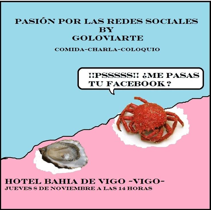 """Crónica de @Gregorio Lópezpez del evento """"pasión por las redes"""" el Hotel bahía de Vigo donde fui ponente-GOLOVIARTE y sus cosas"""