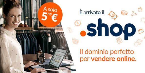 Con il dominio .shop, l'e-commerce trova un nuovo alleato per distinguere il brand aziendale e farsi trovare facilmente nel web.