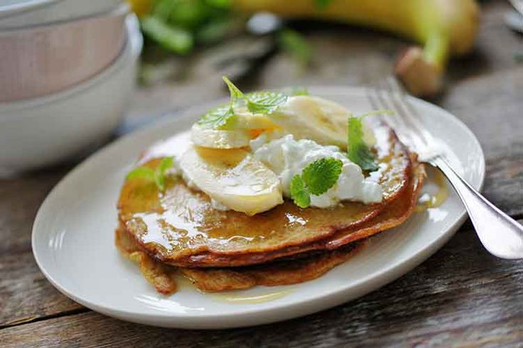 Prøv de lækre bananpandekager fra Amo