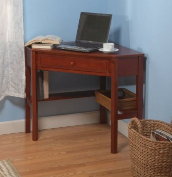 small writing desks corner desk for small space for home computer table cherry generic - Computer Desk For Small Spaces