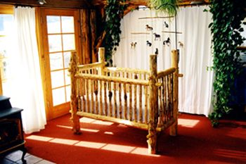 Kim and Angie, this is kind of the look of the log crib and the changing table is also a wood coloring