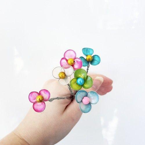 Diy/pyssel- blommor av nagellack