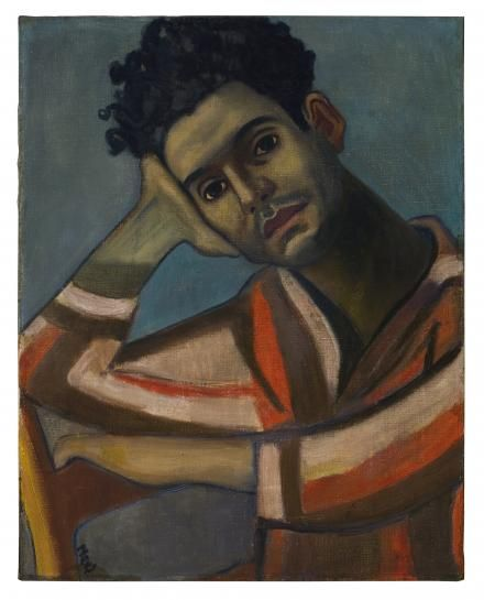 Alice Neel, José, 1936,Olieverf op doek, 58,4 x 46 cm. Estate of Alice Neel, Foto: Malcolm Varon © Estate of Alice Neel