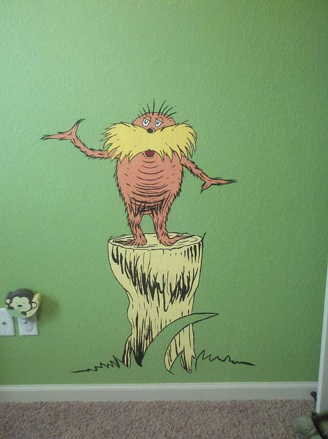 60 best images about dr seuss baby room on pinterest for Dr seuss mural