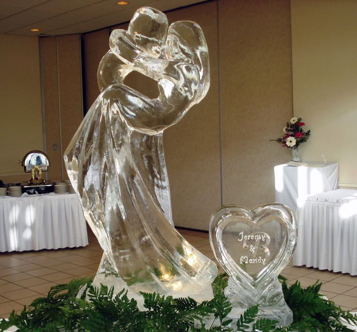 Winter Wonderland Wedding Ice Sculpture
