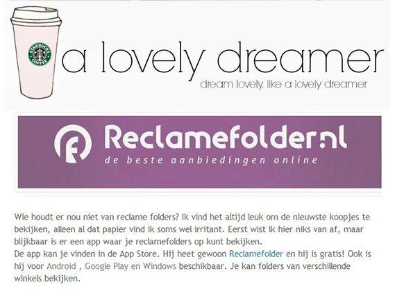 Bekijk het hele artikel op: http://xlovelydreamer.blogspot.nl/2014/01/de-handige-reclamefolders-app.html