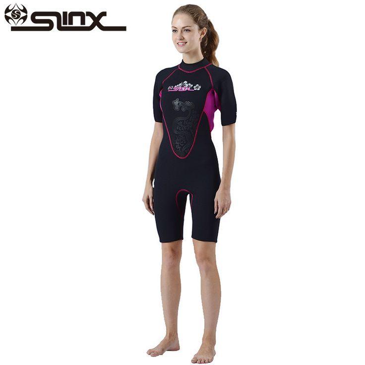SLINX Shorty Wetsuit Women Short Sleeve 3mm Neoprene Wetsuits for Waterski Snorkel Surf Diving Sailing Kayak Women Swimsuit #Affiliate