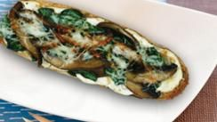 Portobello Mushroom and Spinach Tartines with Roasted Garlic Spread