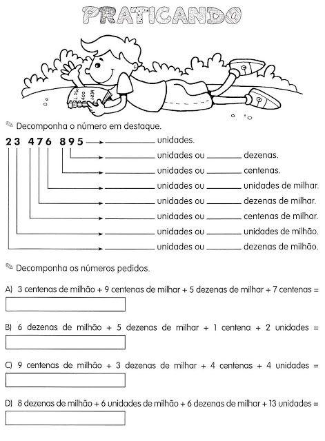 Varias atividades para imprimir com exercícios de matemática para o ensino fundamental