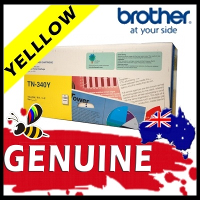 Brother TN340 Yellow Toner Cartridge