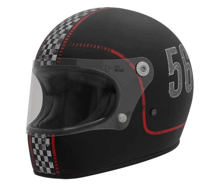 "PREMIER Trophy ""FL 9 BM"" full face retro motorcycle helmet with ECE standard."