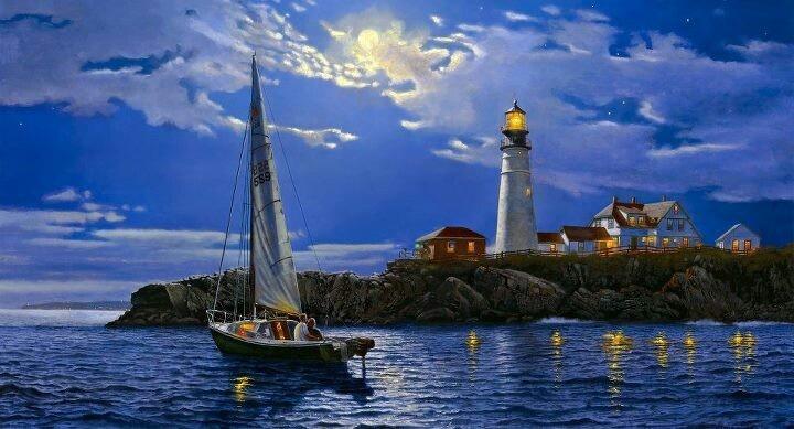 El Faro, estelas de luz en el mar!!