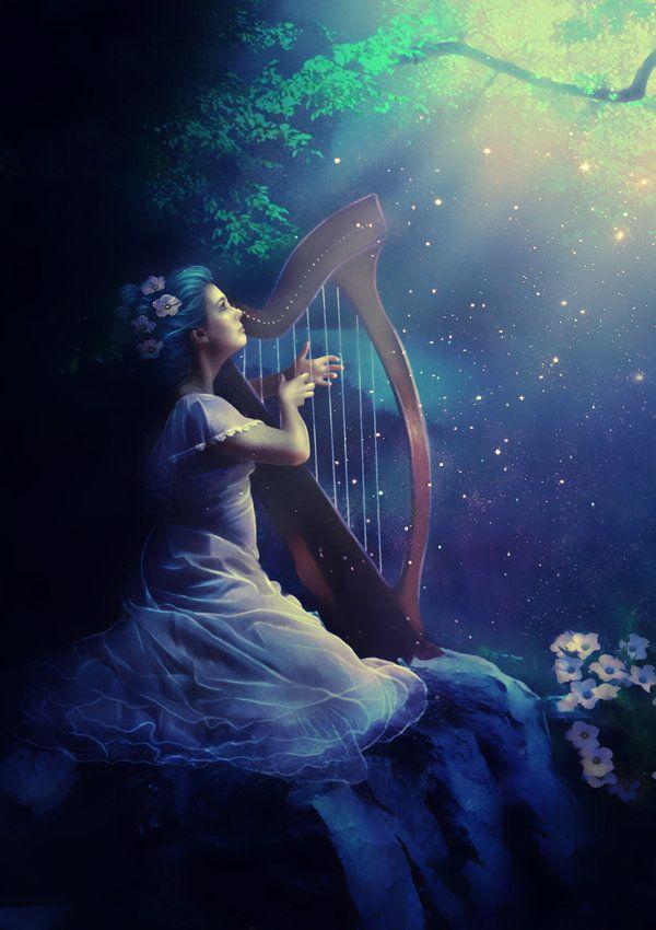 Enchanted harp by obereg.deviantart.com on @deviantART ...