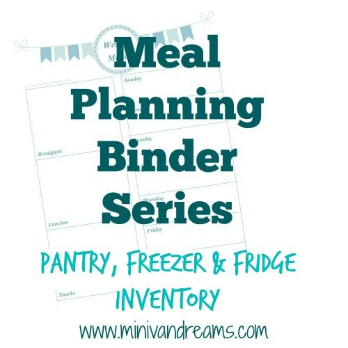 The next installment in the meal planning binder series with a fridge, pantry, and freezer inventory. As always, these printables are FREE.