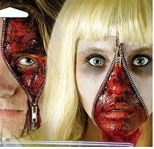 halloween zipper face makeup