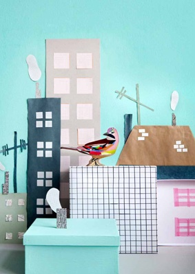 Styling by Ines Beeftink. 3D collage for Kids on Roof.